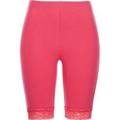 Krótkie legginsy z koronką bonprix różowy hibiskus. Legginsy damskie marki INOVIK. Za 21.99 zł.