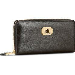 Duży Portfel Damski LAUREN RALPH LAUREN - Lrl Zip Wallet N79 L7885 AR032 XW0E1 Black. Czarne portfele damskie Lauren Ralph Lauren, ze skóry. W wyprzedaży za 369.00 zł.