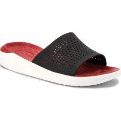 Klapki CROCS - Literide Slide 205183 Black/White. Czarne klapki damskie Crocs, z materiału. W wyprzedaży za 159.00 zł.