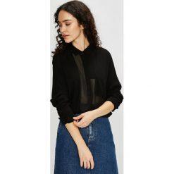 Review - Koszula. Czarne koszule damskie Review, z materiału, z długim rękawem. Za 129.90 zł.