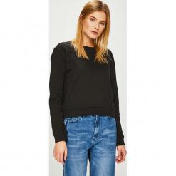 Calvin Klein Jeans - Bluza. Czarne bluzy damskie Calvin Klein Jeans, z bawełny. Za 359.90 zł.