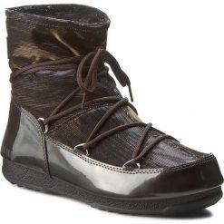 Śniegowce MOON BOOT - Low Lurex 24005600001 Antracite/Bronzo. Brązowe śniegowce i trapery damskie Moon Boot, z materiału. W wyprzedaży za 589.00 zł.