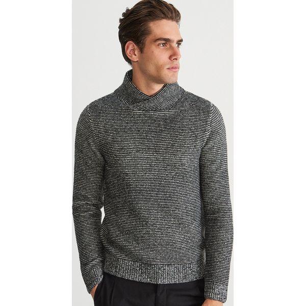 b3ec942c6ab8 Gruby sweter z kołnierzem - Czarny - Swetry przez głowę męskie marki ...