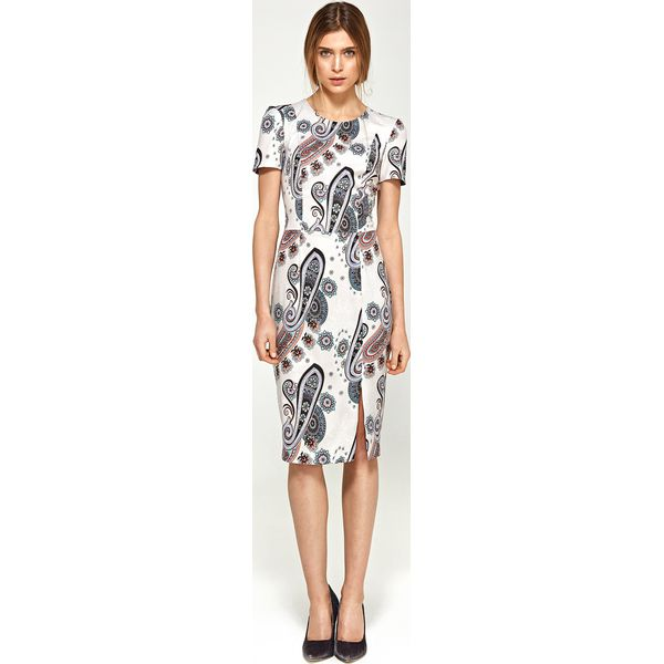 83941ac143 Sukienka dopasowana krótki rękaw s97 - Szare sukienki damskie marki ...