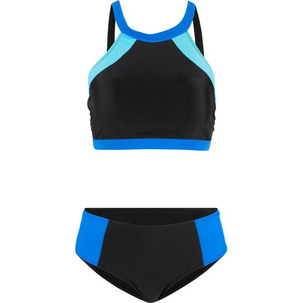 aaf65a77199b6c Bikini (2 części) bonprix czarno-niebiesko- turkusowy - Bikini ...