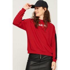 Bluza z lampasami - Czerwony. Bluzy damskie marki Sinsay. W wyprzedaży za 24.99 zł.