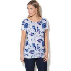 Colour Pleasure Koszulka CP-034 154 biało-niebieska r. XL/XXL. Bluzki damskie Colour Pleasure. Za 70.35 zł.