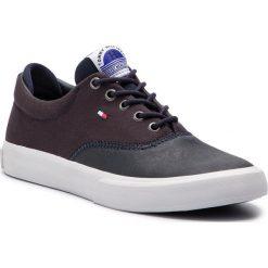 Tenisówki TOMMY HILFIGER - Oxford Sneaker FM0FM01938 Midnight 403. Niebieskie trampki męskie Tommy Hilfiger, z gumy. Za 349.00 zł.