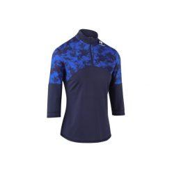 Koszulka tenisowa Thermic 3/4 900 damska. Niebieskie t-shirty damskie ARTENGO, z elastanu, ze stójką. Za 59.99 zł.