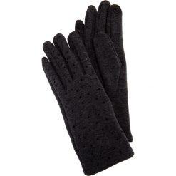 Szare rękawiczki z błyszczącymi dżetami QUIOSQUE. Szare rękawiczki damskie QUIOSQUE, na zimę. Za 39.99 zł.