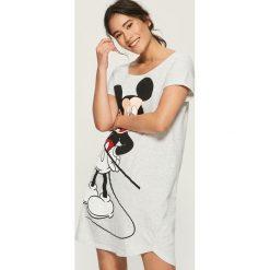 Melanżowa koszula nocna Mickey Mouse - Jasny szar. Szare koszule nocne damskie Sinsay, z motywem z bajki. Za 39.99 zł.