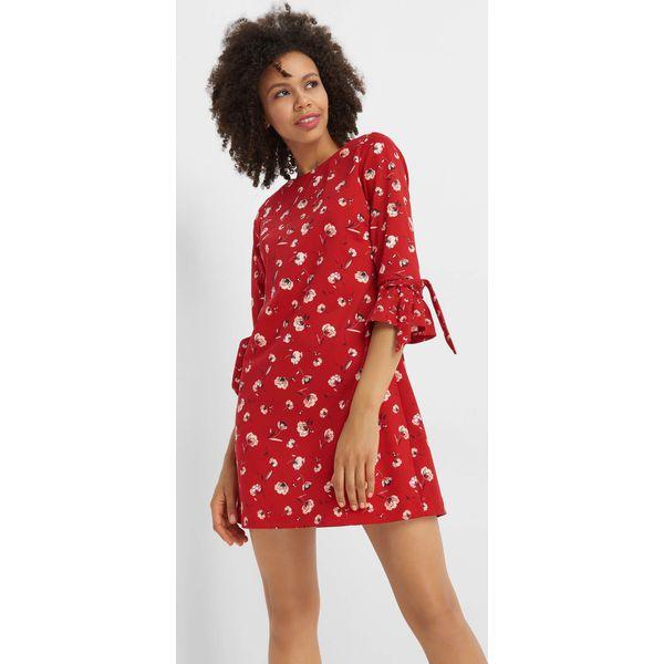 dde85ec14f Sukienka mini w kwiaty - Czerwone sukienki damskie marki Orsay