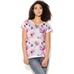 Colour Pleasure Koszulka CP-034 156 biało-różowa r. M/L. T-shirty damskie Colour Pleasure. Za 70.35 zł.