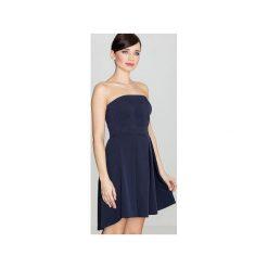 Sukienka K368 Granat. Niebieskie sukienki damskie Lenitif, z gorsetem. Za 149.00 zł.