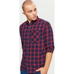 Koszula w kratę - Czerwony. Czerwone koszule męskie Cropp. Za 79.99 zł.
