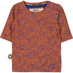 """Koszulka """"Rabbits"""" w kolorze pomarańczowo-fioletowym. Bluzki dla dziewczynek marki Giacomo Conti. W wyprzedaży za 72.95 zł."""