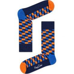 Happy Socks - Skarpety Filled Optic. Niebieskie skarpety męskie Happy Socks, z bawełny. W wyprzedaży za 27.90 zł.