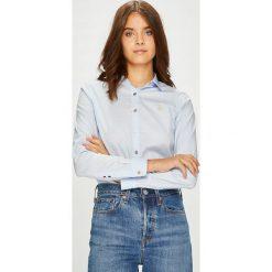U.S. Polo - Koszula. Szare koszule damskie U.S. Polo, z bawełny, casualowe, z włoskim kołnierzykiem, z długim rękawem. W wyprzedaży za 269.90 zł.