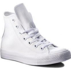 Trampki CONVERSE - Ct A/S Lthr Hi 1T406  White Monochrome. Białe trampki męskie Converse, z gumy. W wyprzedaży za 279.00 zł.