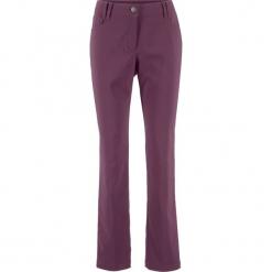 Spodnie z bengaliny SLIM bonprix czarny bez. Fioletowe spodnie materiałowe damskie bonprix. Za 69.99 zł.