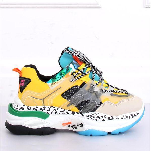 Buty sportowe LA65P Yellow wielokolorowe Żółte obuwie