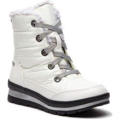 Śniegowce CAPRICE - 9-26221-21 White Comb 197. Białe śniegowce i trapery damskie Caprice, z materiału. Za 299.90 zł.