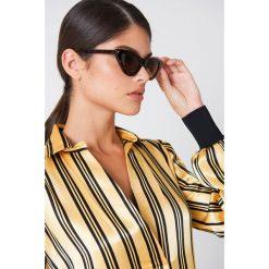NA-KD Accessories Okulary przeciwsłoneczne Pointy Cat Eye - Brown. Brązowe okulary przeciwsłoneczne damskie NA-KD Accessories. Za 60.95 zł.