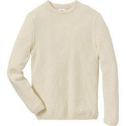 Sweter Regular Fit bonprix naturalny. Swetry przez głowę męskie marki Giacomo Conti. Za 59.99 zł.