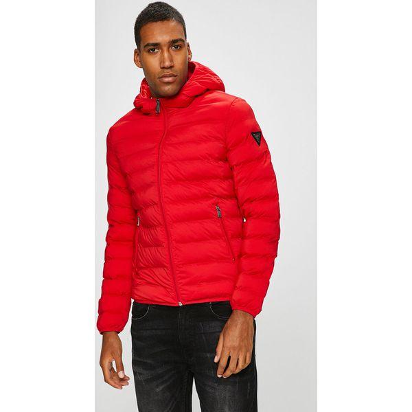 40d04aca5b549 Guess Jeans - Kurtka Seamless - Czerwone kurtki męskie marki Guess ...