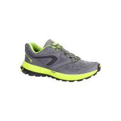 Buty do biegania KIPRUN TRAIL TR damskie. Szare obuwie sportowe damskie KALENJI, z gumy. W wyprzedaży za 149.99 zł.