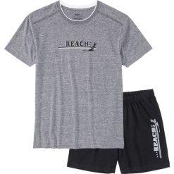 Piżama z krótkimi spodenkami bonprix szary melanż - czarny. Czarne piżamy męskie bonprix, melanż, z krótkim rękawem. Za 34.99 zł.