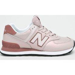 New Balance - Buty WL574KSE. Szare obuwie sportowe damskie New Balance, z gumy. W wyprzedaży za 279.90 zł.