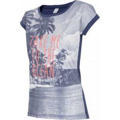 4F Womens T-shirt H4L17-TSD014NAVY. Niebieskie t-shirty damskie 4f, z bawełny. W wyprzedaży za 59.99 zł.