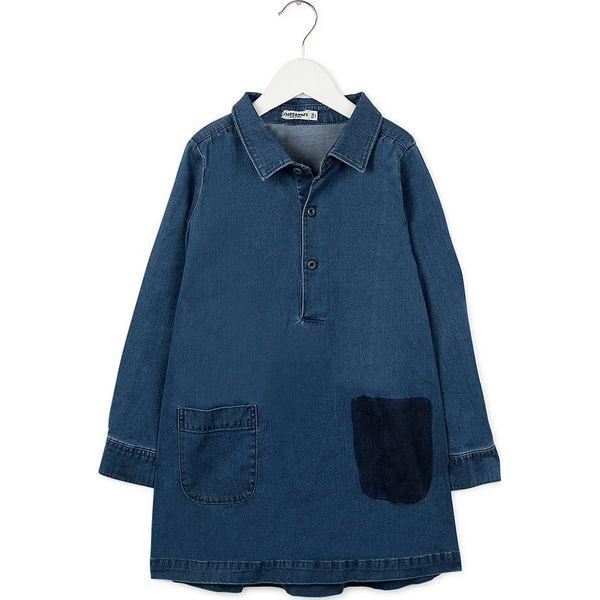 6d3a75cc5c Dżinsowa sukienka w kolorze niebieskim - Niebieskie sukienki dla  dziewczynek marki Imps   Elfs