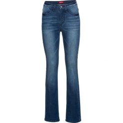 Bardzo miękkie dżinsy STRAIGHT bonprix ciemnoniebieski. Jeansy damskie marki bonprix. Za 139.99 zł.