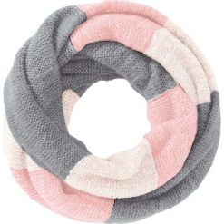 """Szal """"koło"""" bonprix jasnoróżowo-kolorowy. Czerwone szaliki i chusty damskie bonprix, w kolorowe wzory. Za 44.99 zł."""