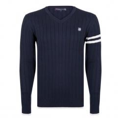 Giorgio Di Mare Sweter Męski Xl Ciemny Niebieski. Niebieskie swetry przez głowę męskie Giorgio di Mare. W wyprzedaży za 169.00 zł.