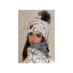 Czapka CHAPOOSIE EcruBEAR Beanie. Białe czapki i kapelusze damskie Chapoosie, z bawełny. Za 125.10 zł.