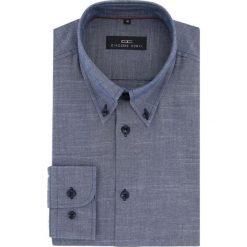 Koszula BIAGIO slim 15-11-25-K. Niebieskie koszule męskie Giacomo Conti, na lato, z bawełny, button down, z długim rękawem. Za 229.00 zł.