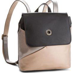 Plecak MONNARI - BAGA360-M23 Złoty Z Czarnym Ze Srebrnym. Czarne plecaki damskie Monnari, ze skóry ekologicznej, klasyczne. W wyprzedaży za 199.00 zł.
