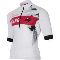Koszulka rowerowa męska RKM150 - biały. Białe koszulki sportowe męskie 4f, z elastanu. Za 169.99 zł.
