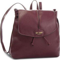 Plecak MY TWIN - Zaino RA8TEN Bordeaux 00020. Czerwone plecaki damskie My Twin, ze skóry ekologicznej, eleganckie. Za 459.00 zł.