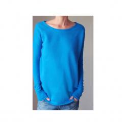 Wąski gruby rękaw niebieski bluza oversize. Niebieskie bluzy damskie One mug a day, z bawełny. Za 189.00 zł.
