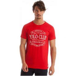 Polo Club C.H..A T-Shirt Męski Xxl Czerwony. Czerwone koszulki polo męskie Polo Club C.H..A. W wyprzedaży za 119.00 zł.