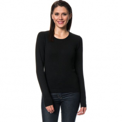 Sweter w kolorze czarnym. Czarne swetry damskie Assuili, z kaszmiru, z okrągłym kołnierzem. W wyprzedaży za 113.95 zł.
