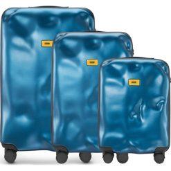 Walizki Icon w zestawie 3 el. niebieski. Walizki męskie Crash Baggage, z materiału. Za 2,628.00 zł.