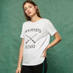 T-shirt Harry Potter - Biały. Białe t-shirty damskie Sinsay. Za 29.99 zł.