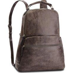 Plecak VERSO - 33016502A Szary. Szare plecaki damskie Verso, z nubiku. W wyprzedaży za 209.00 zł.