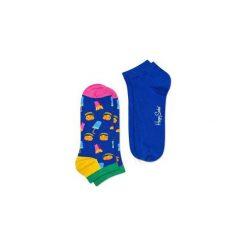 Skarpetki Happy Socks - 2-Pak Low Socks (HAM02-6000). Niebieskie skarpety męskie Happy Socks, w kolorowe wzory, z bawełny. Za 47.90 zł.
