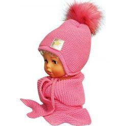 Czapka dziecięca z szalikiem CZ+S 172C różowa. Czapki dla dzieci marki Reserved. Za 56.22 zł.